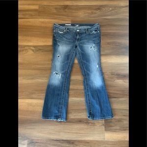 Cute Decree Low Rise Bootcut Distressed Jeans❣️